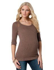 A Pea in the Pod Collection: Ella Moss Long Sleeve Scoop Neck Pocket Tee Maternity Top