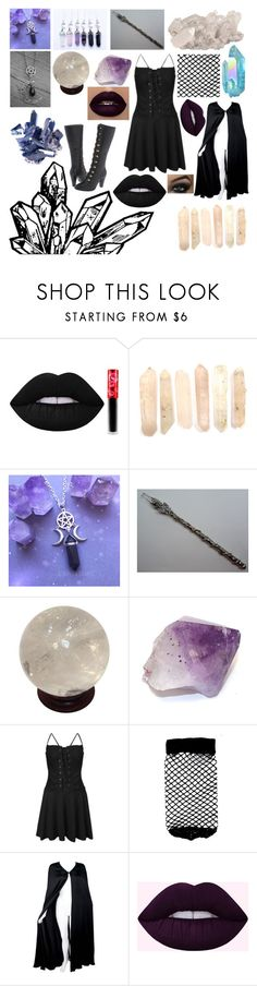 """""""Witchy"""" by shalagna ❤ liked on Polyvore featuring Lime Crime, INDIE HAIR, ASOS and Valentino"""