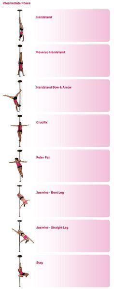 Pole Dance Training - Intermediate poses part 1