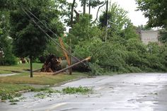 Power lines Downed in Toledo from the storms on July 5th,2012