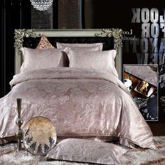 Elizabeth Fleshcolor Jacquard Damask Luxury Bedding