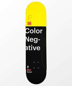Girl x Kodak Biebel Skateboard Deck