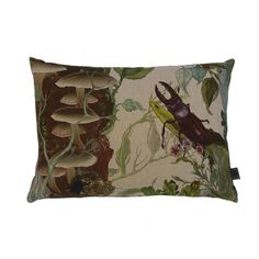 Indie Wood Bugs n Beetles cushion Reverse: Blackl Linen .