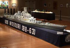 ニキータ速報: 【画像】LEGO史上最大!? 3年を費やし製作された超巨大なレゴ戦艦ミズーリが凄すぎる!
