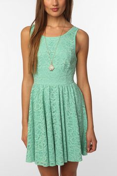 Urban Outfitters   Pins & Needles Backless Lace Dress  $69.00