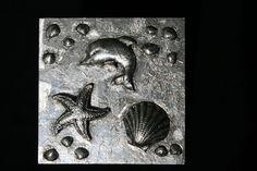 """Wanddeko - Metal Art Bild """"Meeresrauschen"""" Aluminium Art,3D - ein Designerstück von Angelas_Kreativwelt bei DaWanda"""
