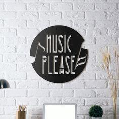 Metal Wall Art - Music Please - Hoagard