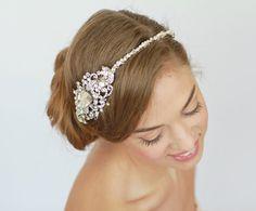 Crystal Rhinestone Headband Wedding Tiara  by LavenderByJurgita, $135.00