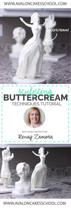 Video Tutoria: Sculpting Buttercream Techniques! Learn what special buttercream is used in order to create these sculptures, how to use the buttercream, and more! Click through for more information!