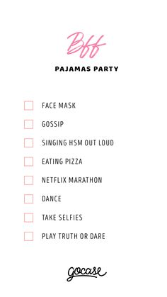 sleepover activities Looking or ideas for the best pajama party with your BBFs Birthday Sleepover Ideas, Sleepover Party Games, Teen Sleepover, Sleepover Activities, Slumber Parties, Sleepover Ideas For Teens, Best Friend Challenges, Pyjamas Party, Things To Do At A Sleepover