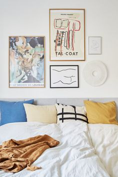 The Nordroom — Art-filled home in Aarhus Bedroom Posters, Bedroom Wall, Bedroom Decor, Bed Room, Bedroom Ideas, Room Interior, Interior Design, Awesome Bedrooms, Home Decor Inspiration