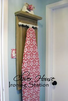 Clover House: Ironing Station or Decoration? Love this idea to get the ironing board out of the way!