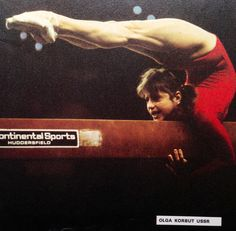 Olga Korbut ussr Vintage gymnastics 1970s  I wasn't a very good gymnast but I could do this on the beam.  I did have flexibility - but not anymore!