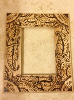 Pyrography picture frame