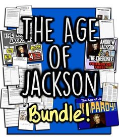 Age of Jackson Bundle! 3 activities for Andrew Jackson! Engaging, Fun & Focused!