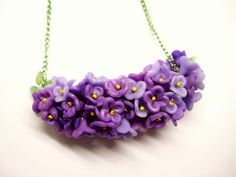 Tutorial-polymer clay flowers necklace