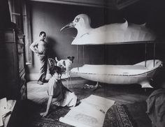 Claude and Francois-Xavier Lalanne and their Cocodoll bed, 1966