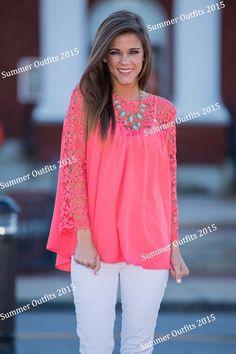 camisa coral mujer - Buscar con Google