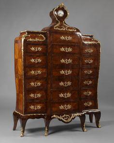 """An Unusual Louis XV Style Secretaire en Chiffonnier Ca1880 France. 83.46""""H x 59.06""""W x 18.11""""D."""