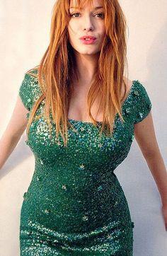 Redhead + green