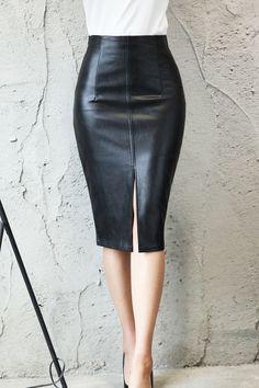 Nouveau femme plus taille extensible près du corps Longueur Genou réduire ouvert jupes 12 au 26