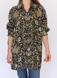 Vintage Batik blouse @ www.secondhandnew.nl