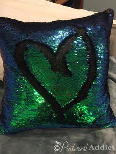 Mermaid Sequin Pillow - DIY version