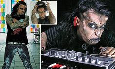 42-year-old Caim Mortis was disowned by his Catholic family in Colombia. So, he had devil horn implants surgically put in his head, as well as had his eyes tattooed!