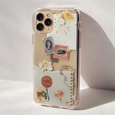 Vintage Aesthetic Scraps Clear Phone Case