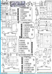 hoja de trabajo Inglés: muebles y electrodomésticos HOJA