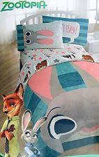 New Disney Zootopia Hopps Bunny Police 3 Piece Twin Bedding Sheet Set Boy Girl