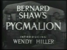 PYGMALION (1938) - Full Movie - Described