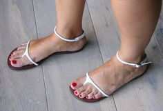 I'm in love with these simple WILIKA-Chie Mihara Sandals
