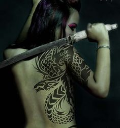 girl with the dragon tattoo...