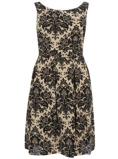 Damask print lace prom dress with scoop neck from @evansclothing. NEED IT.