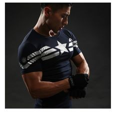 Cheap crossfit tops, Buy Quality shirt directly from China captain america t shirt Suppliers: Captain America T Shirt Printed T-shirts Men Avengers iron man Civil War Tee Cotton Fitness Clothing Male Crossfit Tops Captain America T Shirt, 3d T Shirts, Gym Shirts, Workout Shirts, Workout Gear, T Shirt Fitness, Mens Fitness, Marvel C, Marvel Shirt