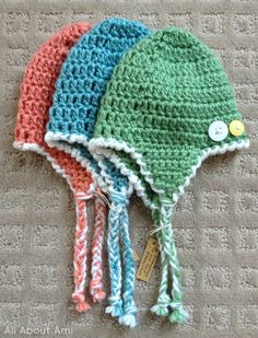 crocheting earflap hats