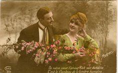 Cartolina d'epoca francese. San valentino -