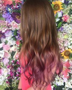 Summer Hairstyles, Cool Hairstyles, Hair Streaks, Hair Shades, Ombre Hair Color, Pink Hair, Hair Looks, Dyed Hair, Hair Inspiration