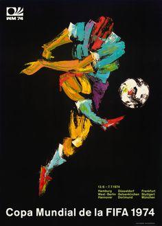 Cartel oficial del campeonato mundial de futbol de Alemania 1974 - Official poster of the football World Championship Germany 1974
