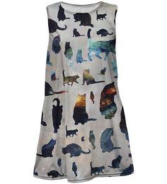Galaxy cats summer dress for kids, Mr. GUGU & Miss GO