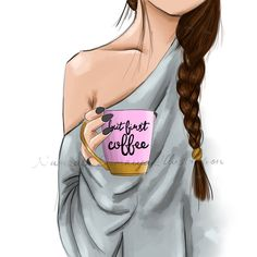 first coffee. - But first coffee. (Fashion illustration art print) – … -But first coffee. - But first coffee. Fashion Sketches, Fashion Illustrations, Art Sketches, Drawing Fashion, Illustration Fashion, Fashion Art, Fashion Design, Cute Girl Drawing, Beautiful Girl Drawing