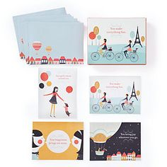Everything Fun Notecards | Gifts for Her | Gifts | Z Gallerie (little doxies on them;)