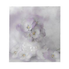#pansies #pastelpansies #pansy #pansystilllife   #sandrafoster #sandrafosterzazzle #softpansies  #notepad