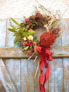 Türkranz  Schaufensterdeko Landhaus Kranz natur 30 cm Herbst Weihnachten