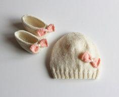 Petit Mouton Francais Knitted Hat & Shoes