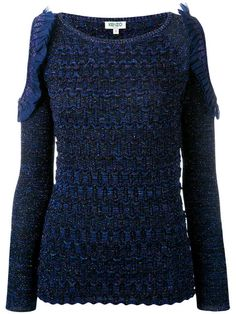 Acquista Kenzo cut-out sleeve knitted top.