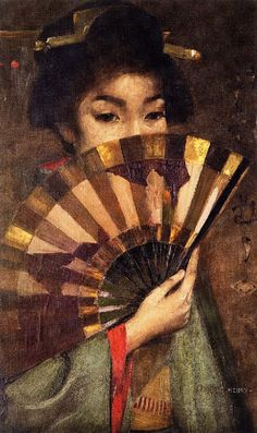 parappurathu: George Henry A Geisha Girl Signed, inscribed 'Tokyo' dated George Henry, Geisha Art, John Everett Millais, Painting Of Girl, Painting Art, Painting Flowers, Paintings, Glasgow School Of Art, Western Art