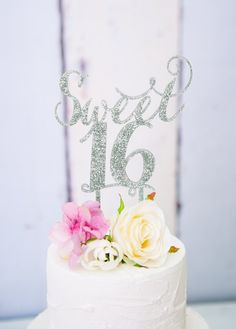 Sweet Sixteen Cake Topper for 16th Birthday Party by ZCreateDesign