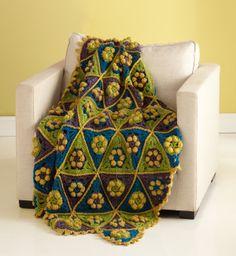 Tweedy Triangles Afghan (Lion Brand)